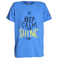 blue keep calm and shine on t shirt