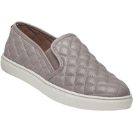 grey quilted leather steve madden flat