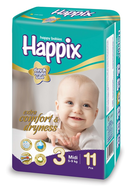 happix midi diapers
