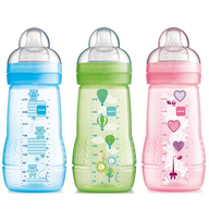 multi color baby bottles