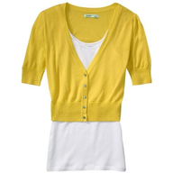 old navy yellow jacket with top