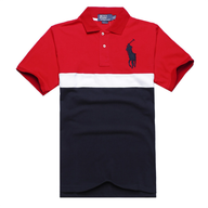 polo red blue shirt