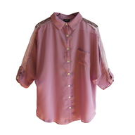 rue21 pink blouse womens