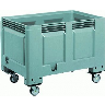 discount wheeled plastic container